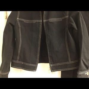 bella colori Jackets & Coats - Bella Colori black denim jacket pants set size S